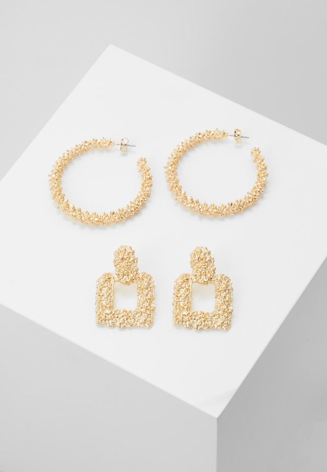 PCSASELINA EARRINGS 2 PACK - Ohrringe - gold-coloured