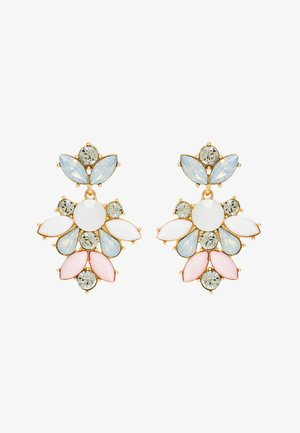 PCJARLO EARRINGS - Korvakorut - gold coloured/clear/pastel