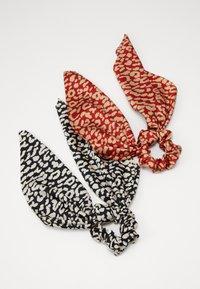 Pieces - SCRUNCHIE 2 PACK - Haaraccessoire - black/leopard - 1