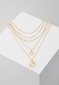 Pieces - PCKRYSTAL COMBI NECKLACE - Necklace - gold-coloured - 0