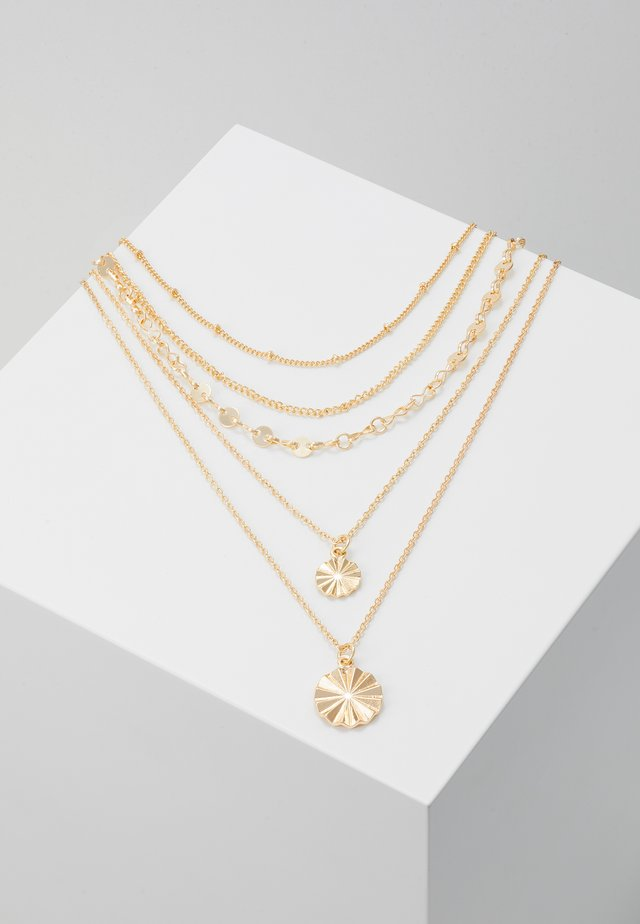 PCKRYSTAL COMBI NECKLACE - Halskæder - gold-coloured