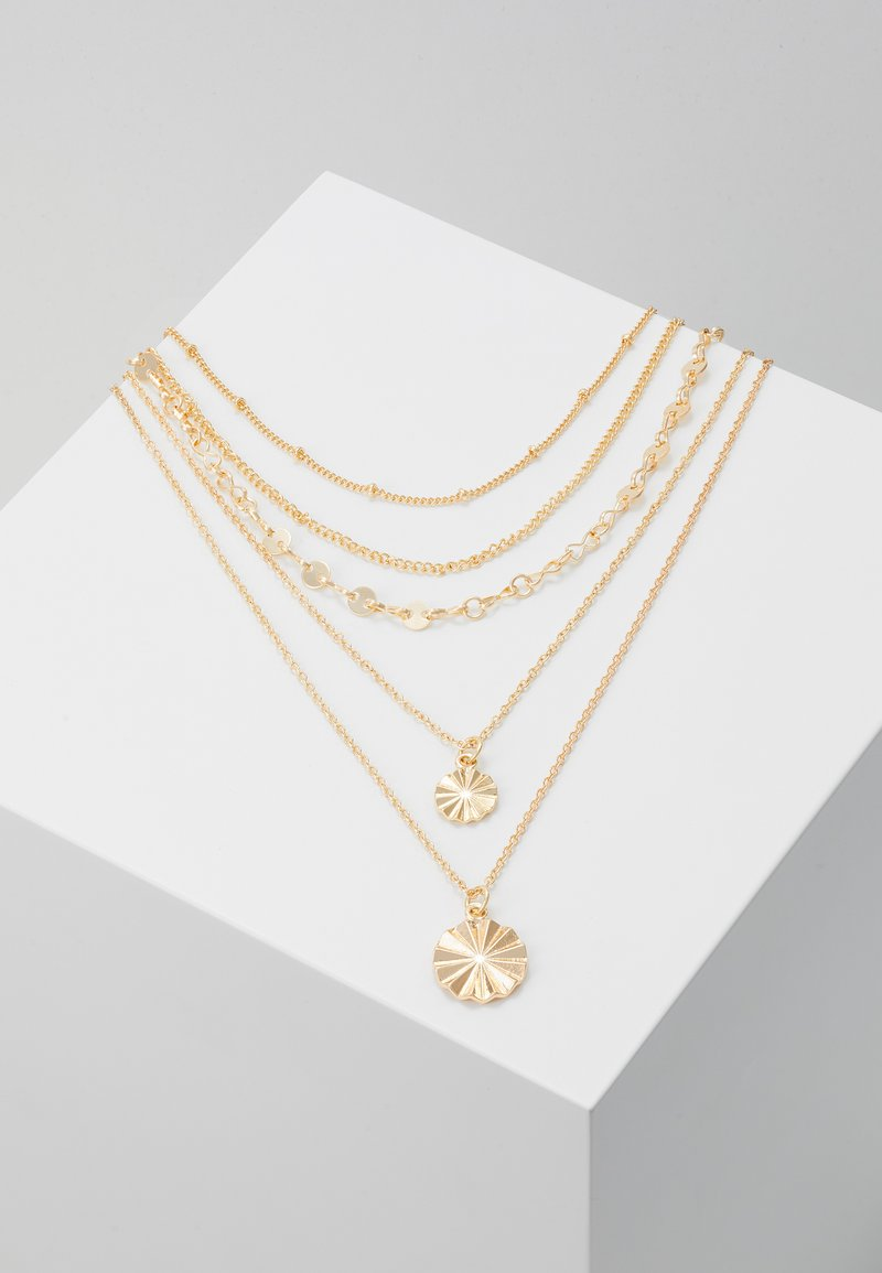 Pieces - PCKRYSTAL COMBI NECKLACE - Necklace - gold-coloured