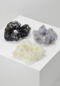 Pieces - SCRUNCHIE 3 PACK - Hair Styling Accessory - bright white/blue - 0