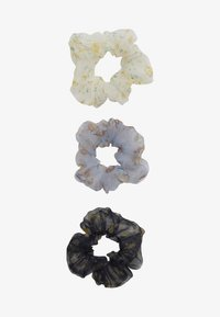 Pieces - SCRUNCHIE 3 PACK - Hair Styling Accessory - bright white/blue - 2
