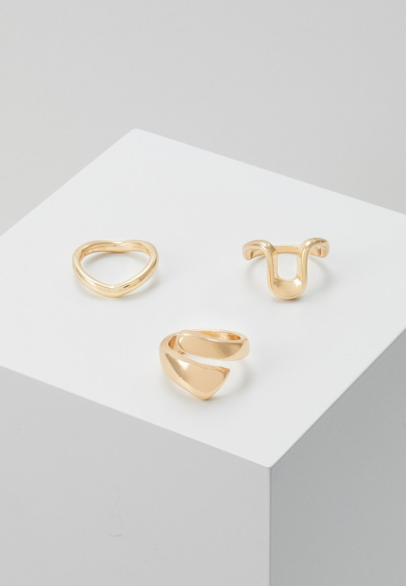 Pieces - PCFORYNA 3 PACK - Ringar - gold-colour