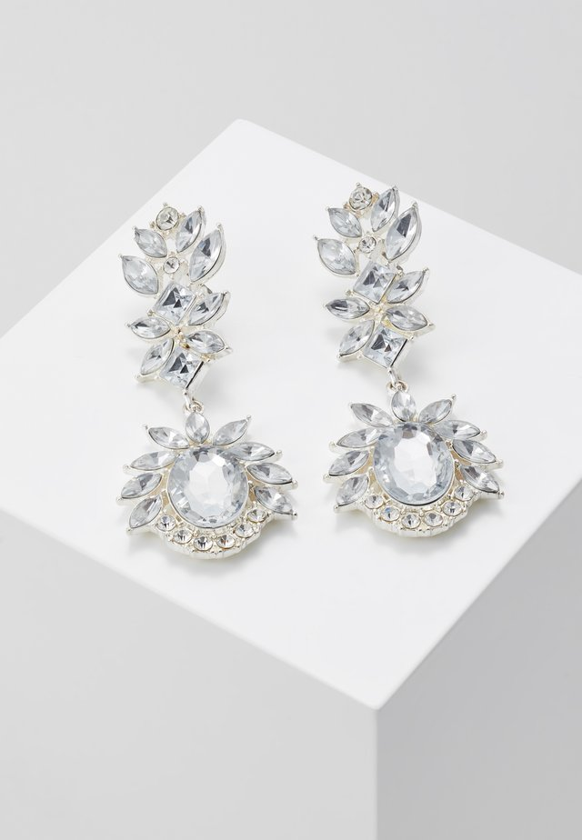 PCFAW EARRINGS - Oorbellen - silver-coloured/clear