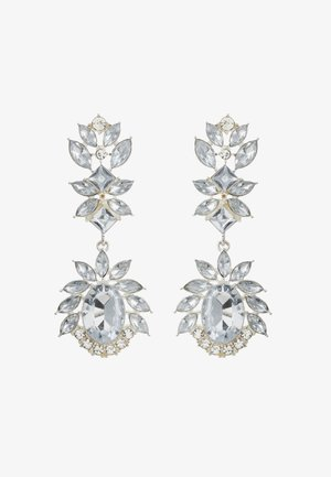 PCFAW EARRINGS - Náušnice - silver-coloured/clear