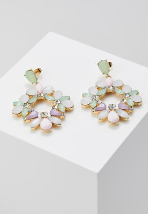 PCPASTEL EARRINGS - Oorbellen - gold-coloured/multicoloured