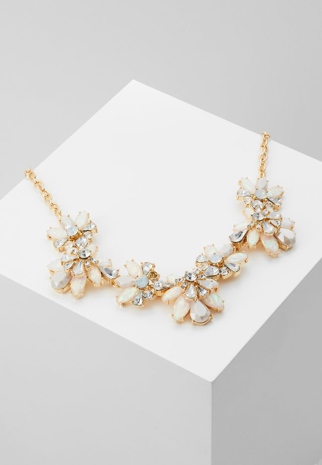 PCFLOWINA STONE NECKLACE - Halskette - gold coloured/clear/mop/white