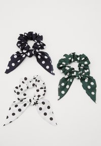 Pieces - PCDOTTY SCRUNCHIE 3 PACK - Hair Styling Accessory - navy blazer/white/army - 0