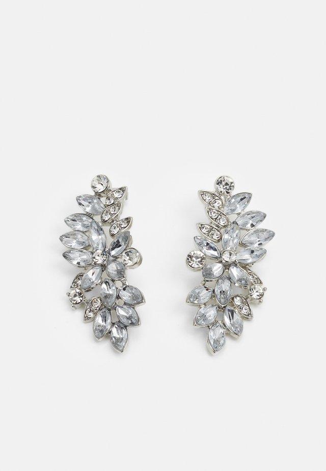 PCLAURY EARRINGS - Oorbellen - silver-coloured/clear