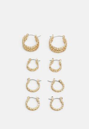 PCPANZI HOOP EARRINGS 4 PACK - Oorbellen - gold-coloured