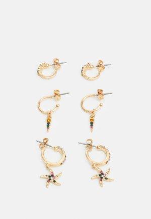 PCBEACHO HOOP EARRINGS 3 PACK - Oorbellen - gold-coloured/multi