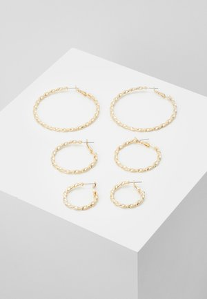 PCSISSY EARRINGS 3 PACK - Korvakorut - gold-coloured
