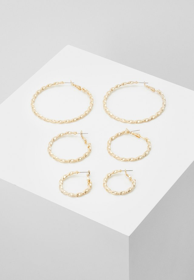 PCSISSY EARRINGS 3 PACK - Ohrringe - gold-coloured