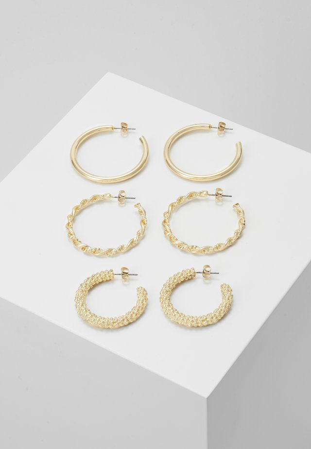 PCJOLINA EARRINGS 3 PACK - Earrings - gold-coloured