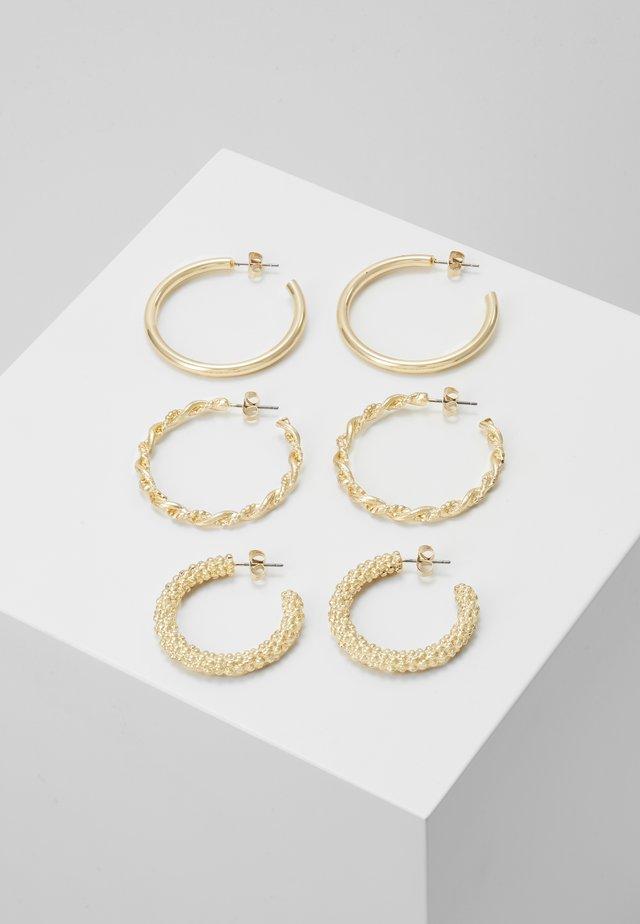 PCJOLINA EARRINGS 3 PACK - Øreringe - gold-coloured
