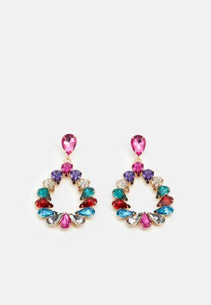 PCPINKA EARRINGS - Oorbellen - gold coloured/multi