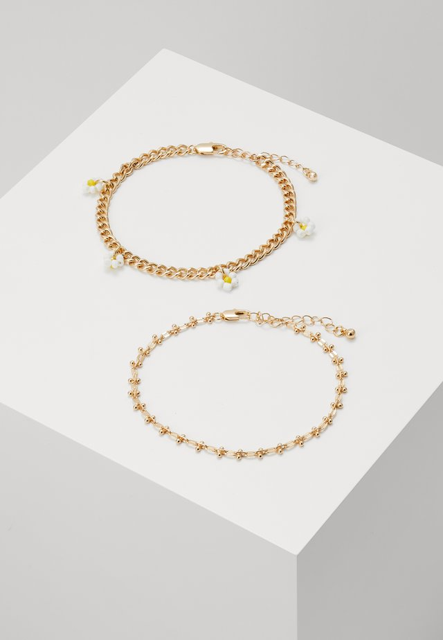 PCMAISE ANKLE CHAIN 2 PACK - Pozostałe - gold-coloured