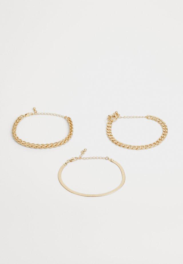 PCKAMELIA BRACELETS 3 PACK - Armbånd - gold-coloured