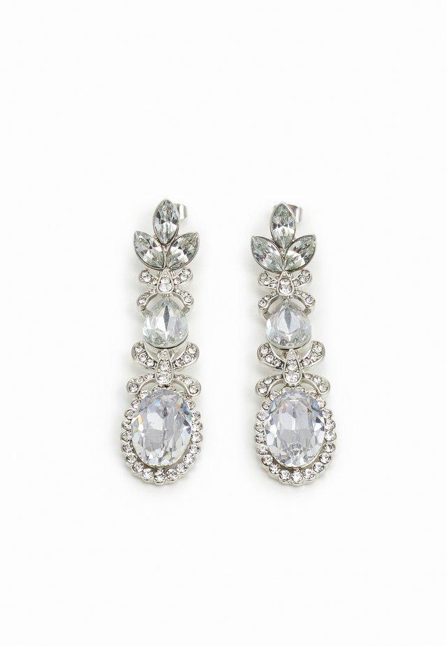 PCJIDI EARRINGS - Oorbellen - silver-coloured/clear