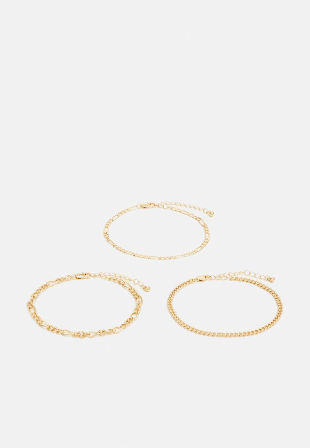 PCKIBO BRACELET 3 PACK - Bracelet - gold-coloured