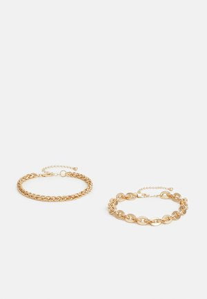 PCRIKKY BRACELET 2 PACK - Pulsera - gold-coloured