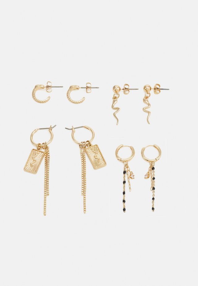 PCDABY EARRINGS 4 PACK - Øreringe - gold-coloured