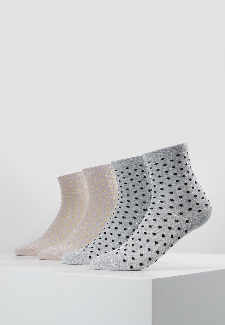 Pieces - PCSEBBY GLITTER 4 PACK - Ponožky - grey