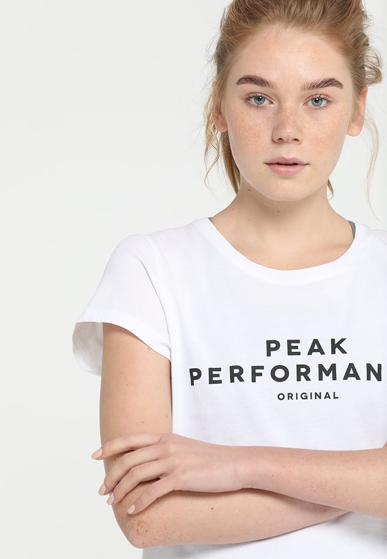 Peak Performance TEE - T-shirt imprimé white