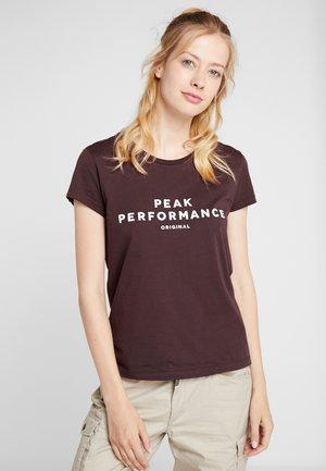 TEE - T-shirt imprimé - mahogany