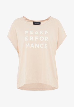 GROUND - T-shirt print - pink champagne