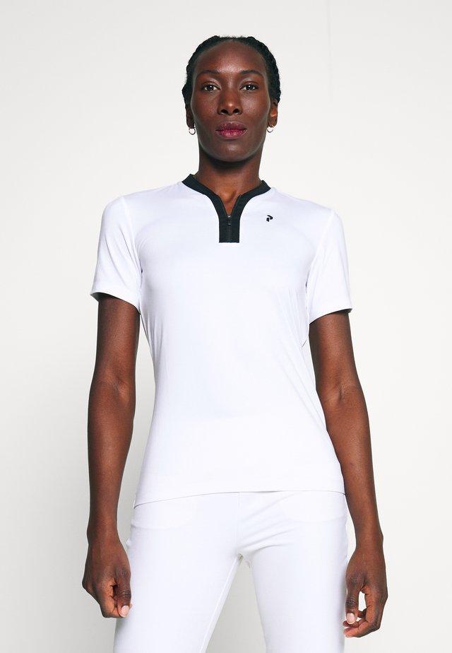 TURF ZIP - T-shirt z nadrukiem - white