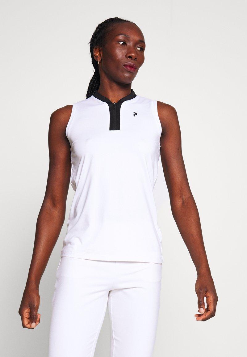 Peak Performance - TURF ZIP - Polo shirt - white