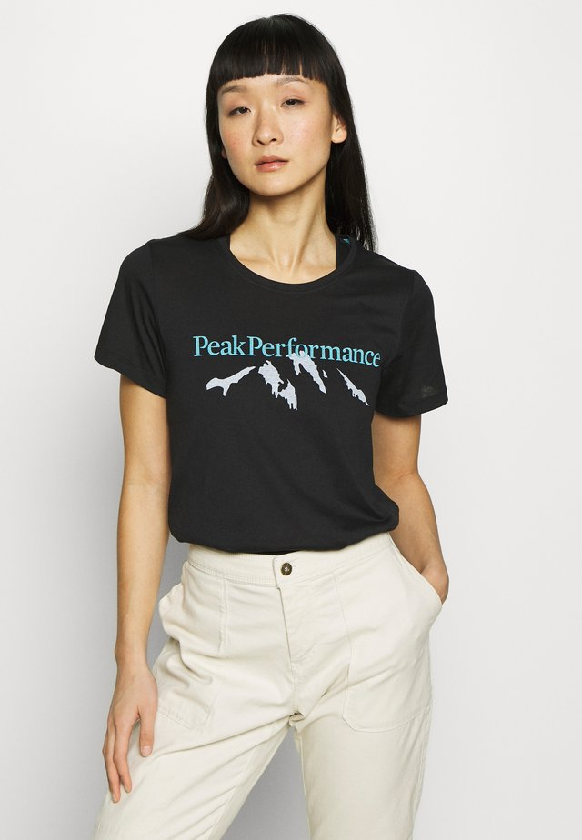 EXPLORE TEE MOUNTAIN - Print T-shirt - black