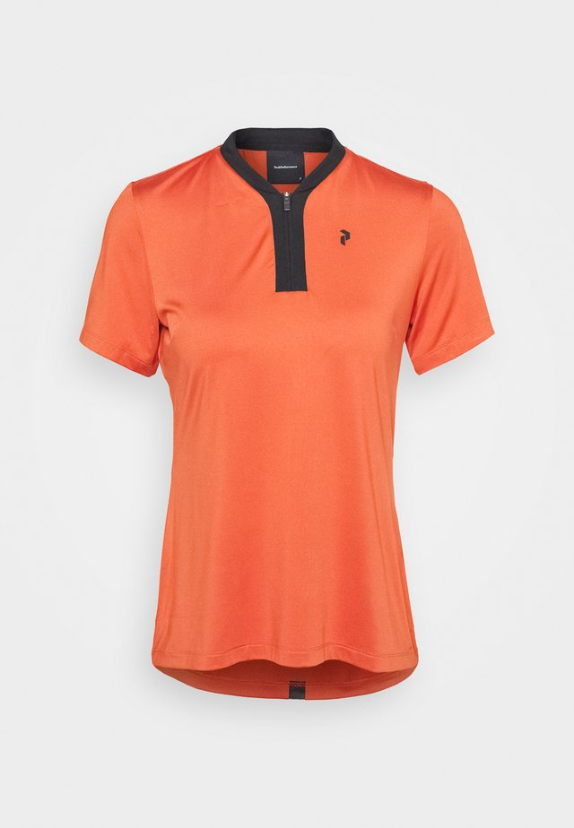 WTURFZIPSS - Polo shirt - clay red