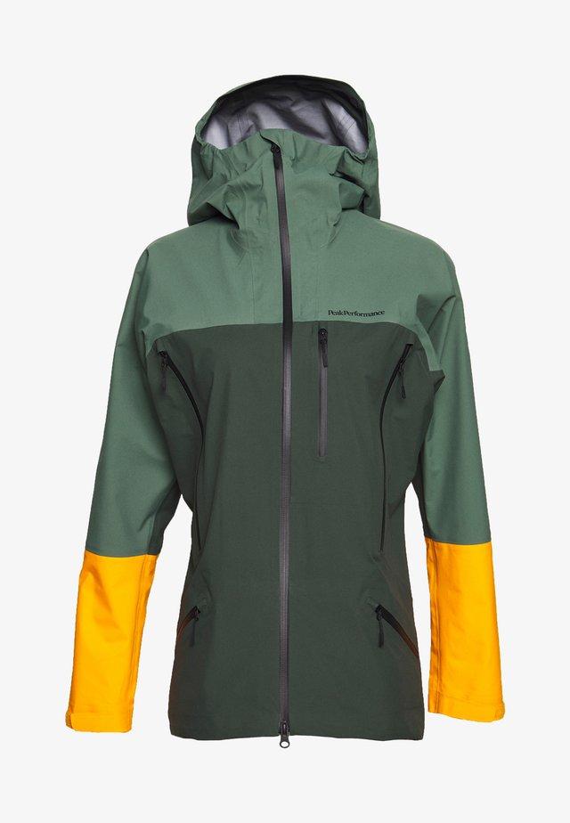 VISLIGHT JACKET - Hardshellová bunda - drift green