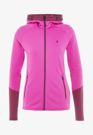 Fleecová bunda - power pink