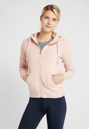 GROUND - veste en sweat zippée - pink champagne