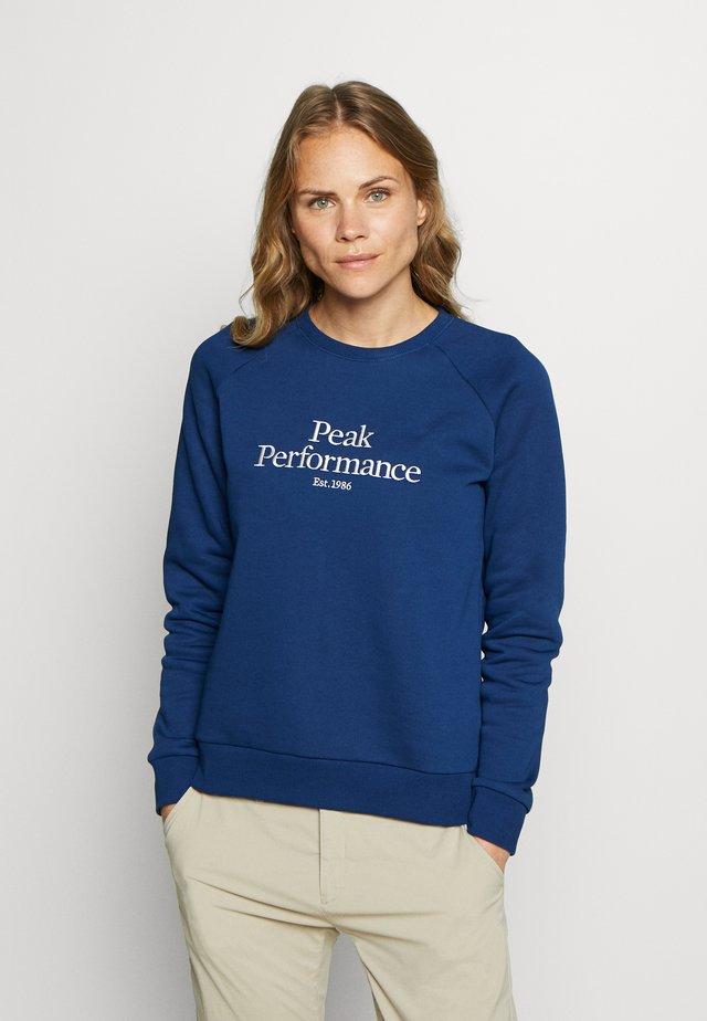ORIGINAL CREW - Sweatshirt - cimmerian blue