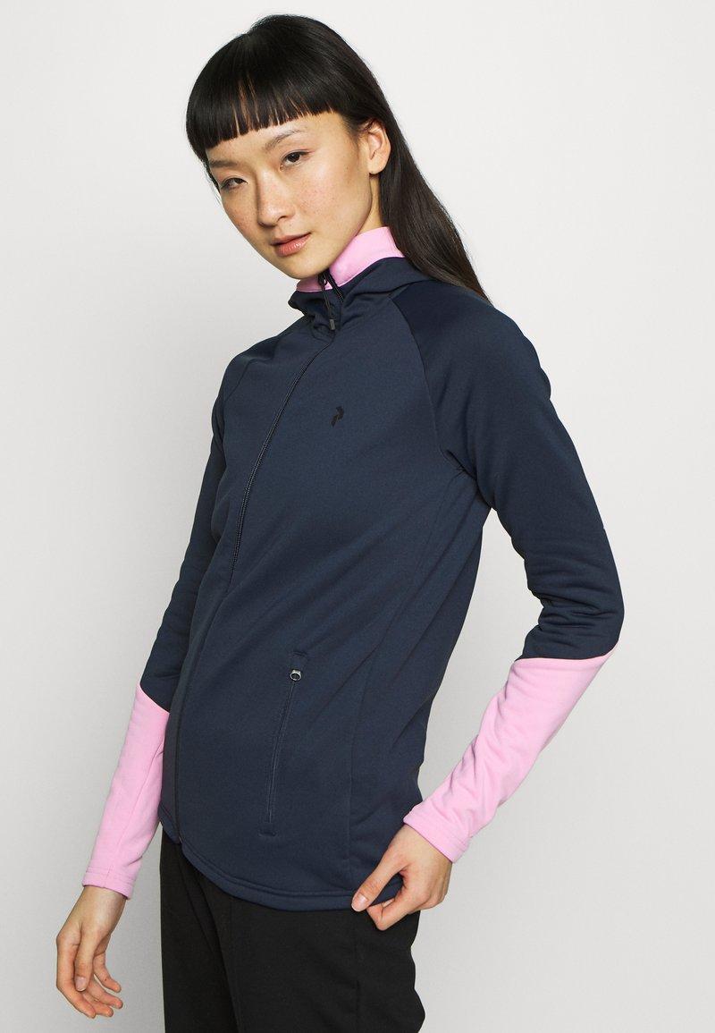 Peak Performance - RIDER ZIP HOOD - Fleece jacket - blue shadow