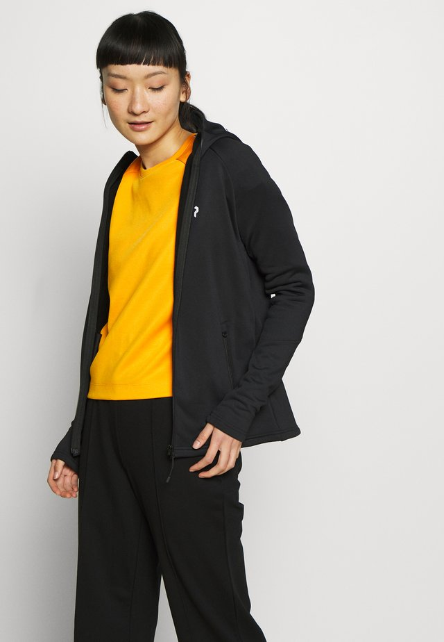 RIDER ZIP HOOD - Fleece jacket - black