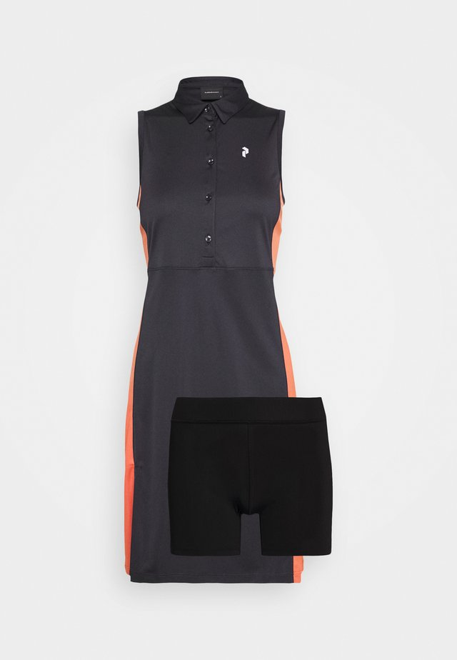 SLATE - Sportovní šaty - clay red