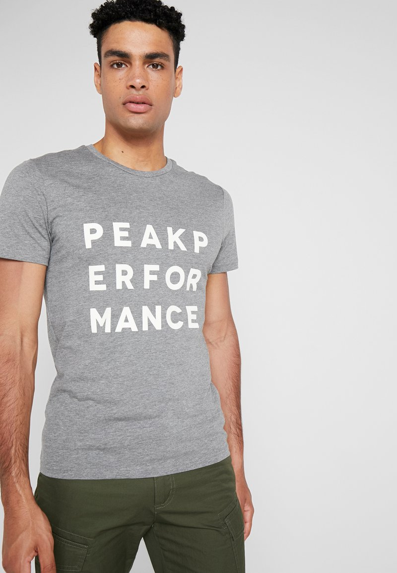 Peak Performance - GROUND - Print T-shirt - grey melange