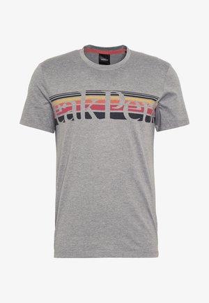 EXPLORE TEE STRIPE  - T-shirts print - grey melange