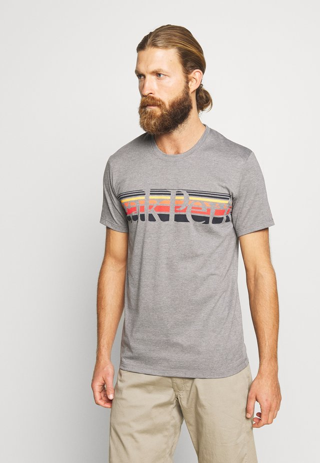 EXPLORE TEE STRIPE  - Print T-shirt - grey melange