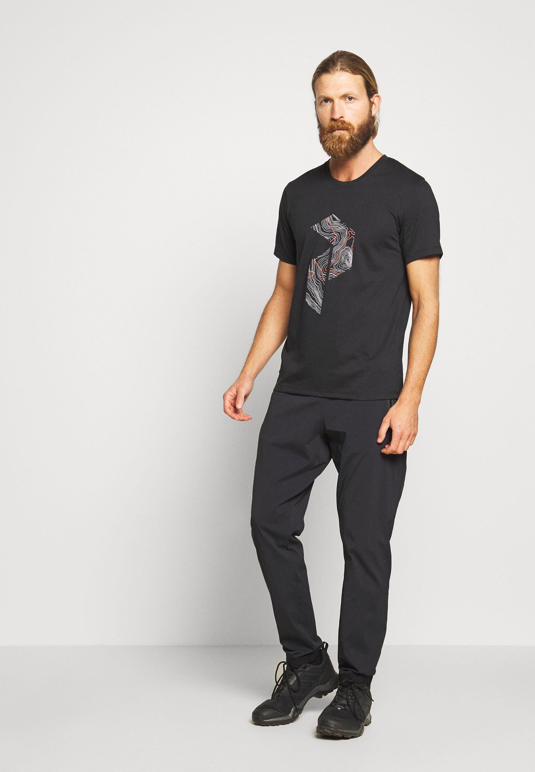Peak Performance Explore Tee Print - T-shirt Con Stampa Black WWK38