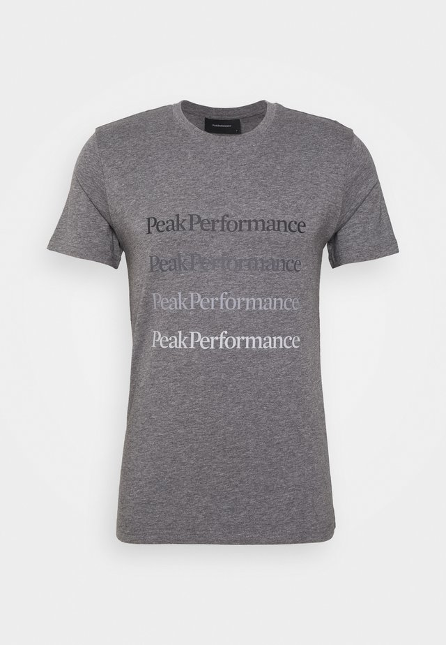 GROUND TEE  - T-shirt print - grey melange