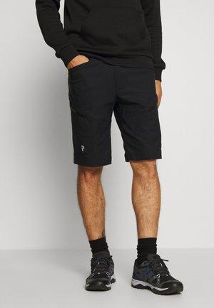 ICONIQ CARGO - Pantalones montañeros cortos - black