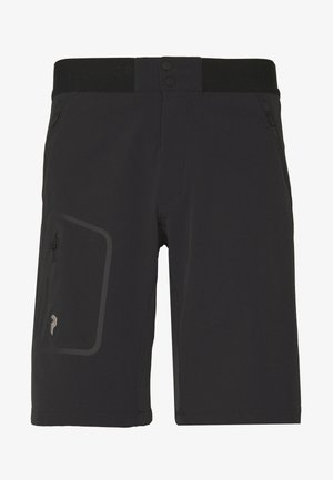 LIGHT SOFTSHELL SHORTS - Outdoorové kraťasy - black